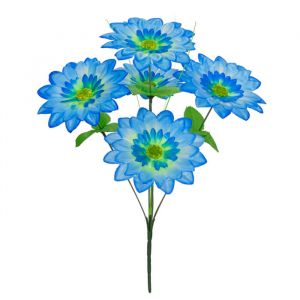 Buquê Flor Artificial Margarida Azul 37cm