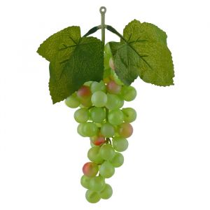 Fruta Artificial Uva Frosted Verde 2 Tons 25cm