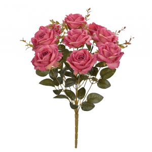 Buquê Flor Artificial Rosa Beauty 2 Tons 47cm